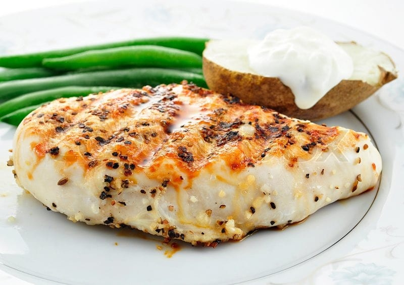 Chicken breast--high protein foods